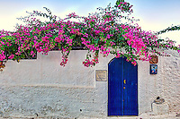 The house where the painter Gerti Brauner lived at Metochi in Agistri island, Greece
