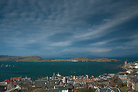 Mull, the Sound of Kerrera, Kerrara and Oban from McCaig's Tower, Argyll & Bute