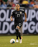 CHICAGO, IL - JULY 7: Luis Rodriguez #21 during a game between Mexico and USMNT at Soldier Field on July 7, 2019 in Chicago, Illinois.