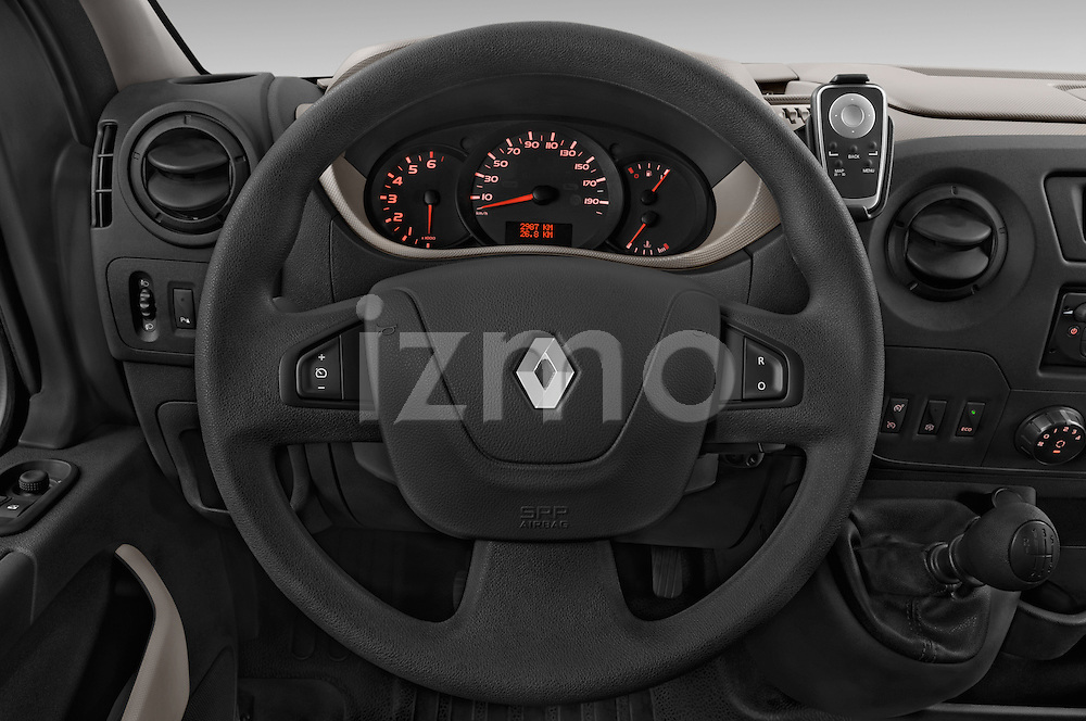 Car pictures of steering wheel view of a 2015 Renault MASTER GRAND CONFORT 4 Door Cargo Van Steering Wheel