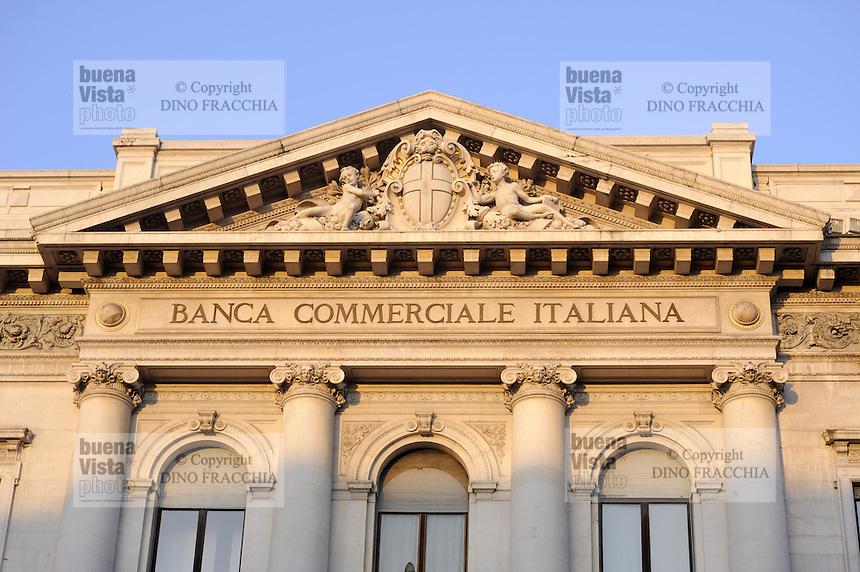- Milan, headquarters of Italian Commercial Bank in Scala square<br /> <br /> - Milano, sede della Banca Commerciale Italiana in piazza della Scala