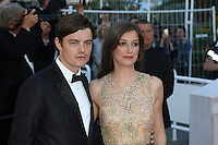 Sam Riley, Alexandra Maria Lara attend the 'Elle' Premiere during the 69th annual Cannes Film Festival at the Palais des Festivals on May 21, 2016 in Cannes
