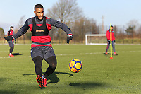 Luciano Narsingh crosses the ball during the Swansea City Training at The Fairwood Training Ground, Swansea, Wales, UK. Thursday 11 January 2018