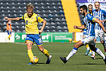 Kilmarnock v St Johnstone……15.08.20   Rugby Park  SPFL<br />Ali McCann is closed down by Gary Dicker<br />Picture by Graeme Hart.<br />Copyright Perthshire Picture Agency<br />Tel: 01738 623350  Mobile: 07990 594431