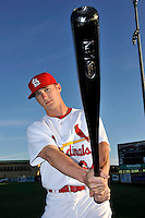 Mar 01, 2010; Jupiter, FL, USA; St. Louis Cardinals outfielder Shane Robinson (64) during  photoday at Roger Dean Stadium. Mandatory Credit: Tomasso De Rosa/ Four Seam Images