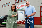 Irish Drain Services in Farranfore who were awarded the Kerry Small Business 2021 from the All Ireland Business All Stars Awards. L to r: Mary B Teahan and Liam Brosnan