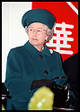 27th Oct 97  Ref : 970388     Copyright Pic : James Stewart.THE QUEEN DURING SPEECHES AT THE OPENING CEREMONY OF THE  CHUNGWA FACTORYIN HOLYTOWN........Payments to : James Stewart Photo Agency, Stewart House, Stewart Road, Falkirk. FK2 7AS      Vat Reg No. 607 6932 25.Office : 01324 630007        Mobile : 0421 416997