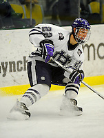 30 December 2007: Holy Cross Crusaders' defenseman Mark Znutas, a Freshman from Emerson, NJ, in action against the Western Michigan University Broncos at Gutterson Fieldhouse in Burlington, Vermont. The teams skated to a 1-1 tie, however the Broncos took the consolation game in a 2-0 shootout to win the third game of the Sheraton/TD Banknorth Catamount Cup Tournament...Mandatory Photo Credit: Ed Wolfstein Photo