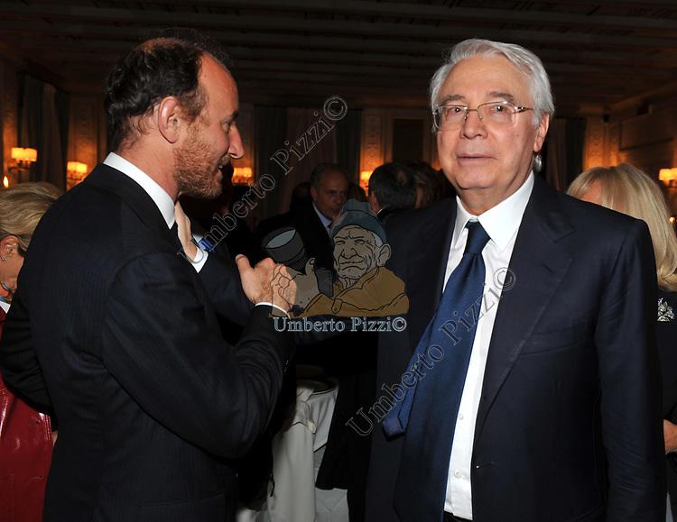 FABIO GALLIA E CESARE GERONZI<br /> PREMIO GUIDO CARLI - SECONDA  EDIZIONE<br /> RICEVIMENTO A CASINA VALADIER  ROMA 2011