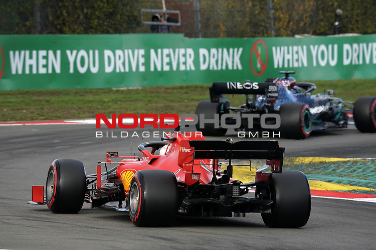 10.10.2020, Nürburgring, Nürburg, Formula 1 Aramco Grosser Preis der Eifel 2020<br /> , im Bild<br />Lewis Hamilton (GB#44), Mercedes-AMG Petronas F1 Team, Sebastian Vettel (GER#5), Scuderia Ferrari<br /> <br /> Foto © nordphoto / Bratic