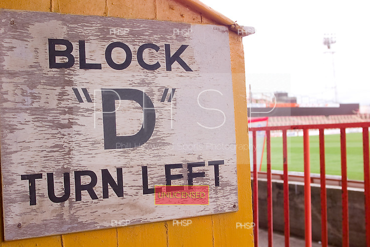 23/06/2000 Blackpool FC Bloomfield Road Ground..west paddock sign.....© Phill Heywood.