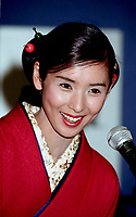 Montreal (Qc) CANADA -August 31, 1997 File Photo-<br /> Japanese actress Hitomi Kuroki<br /> <br /> <br /> at 1997 World Film Festival.<br /> -Photo (c) Pierre Roussel - Images Distribution