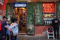 French Quarter, New Orleans, Louisiana.  Occult Souvenirs Shop, Haunted House Tours.  Readings, House of Voodoo.