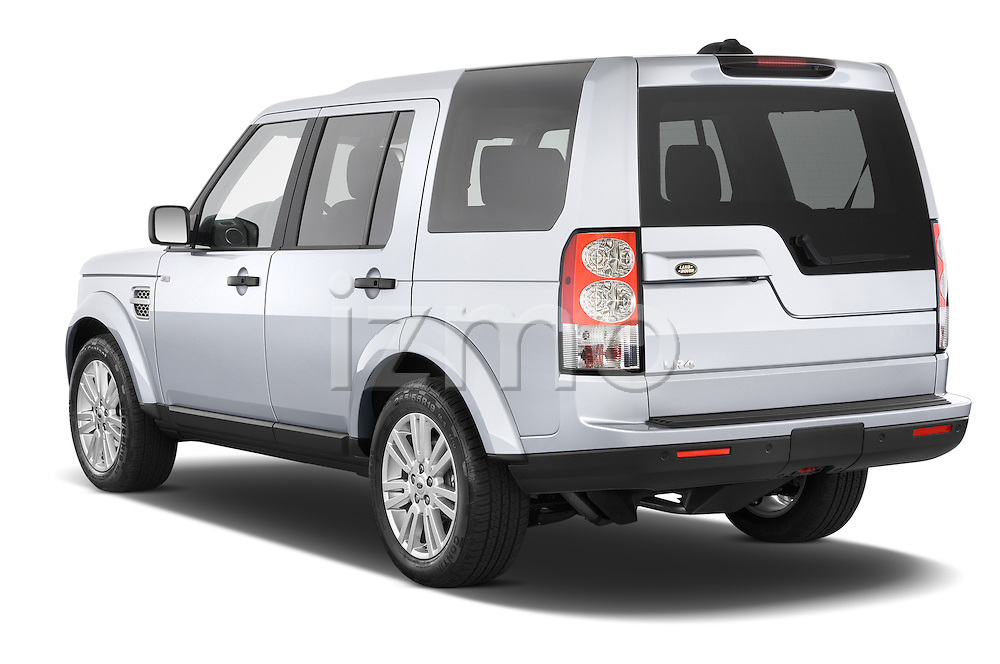 Car pictures of rear three quarter view of a 2014 Land Rover LR4 Base 5 Door SUV Angular Rear