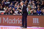 Real Madrid's coach Pablo Laso during Turkish Airlines Euroleage match between Real Madrid and EA7 Emporio Armani Milan at Wizink Center in Madrid, Spain. January 27, 2017. (ALTERPHOTOS/BorjaB.Hojas)