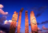 Antique totem poles, Alaska