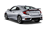 Car pictures of rear three quarter view of a 2018 Honda Civic Si 2 Door Coupe angular rear