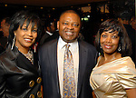 From left: Eileen and Kase Lawal with Lora Clemmons at the Houston Museum of African American Culture held at the Ensemble Theater Thursday Oct. 22,2009. (Dave Rossman/For the Chronicle)