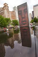 Usa,Illinois, Chicago,Crown fountain,Jaume Plensa