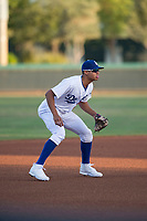 AZL Dodgers third baseman Leonel Valera (23) during an Arizona League game against the AZL White Sox at Camelback Ranch on July 3, 2018 in Glendale, Arizona. The AZL Dodgers defeated the AZL White Sox by a score of 10-5. (Zachary Lucy/Four Seam Images)