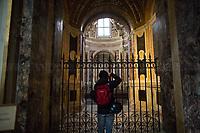 """Rome, 18/02/2020. Vising and documenting the Chiesa di Santa Maria in Vallicella (Chiesa Nuova, 1575 - 1614). The Church «[…] is the principal church of the Oratorians, a religious congregation of secular priests, founded by St Philip Neri in 1561 at a time in the 16th century when the Counter Reformation saw the emergence of a number of new religious organisations such as the Society of Jesus (Jesuits), the Theatines and the Barnabites». (1.). <br /> Chiesa Nuova includes Artworks by Pietro da Cortona, Cesare Nebbia, Giuseppe Cesari """"il Cavaliere D'Arpino"""", Baccio Ciarpi, the pulpito in legno designed by Francesco Borromini, Durante Alberti, Giovanni Guerra, Pomarancio, Federico Barocci, Carlo Saraceni, Andrea Lilli, Domenico Cresti detto il Passignano, Scipione Pulzone, Stefano Longo, Giovanni Lanfranco, Angelo Caroselli, Caravaggio (Deposizione di Cristo nel Sepolcro, Copy by M. Koch, Original Artwork at the Musei Vaticani), Girolamo Muziano, Egidio della Riviera, Giovanni Maria Morandi, Giacomo della Porta, Aurelio Lomi, Gian Domenico Cerrini, Martino Longhi il Vecchio, Giovanni Antonio Paracca, Federico Barocci, Alessandro Salucci, Flaminio Vacca, Luca Berrettini, Cristoforo Roncalli detto il """"Pomarancio"""", Guido Reni, Vincenzo Castellani, Giovan Francesco De Rossi, Luigi Scaramuccia, Carlo Maratta, Pietro Paolo Rubens.    <br /> This visit was possible thanks to the introduction and the company of Photographer Matteo Trevisan.<br /> <br /> Footnotes & Links:<br /> 1. (Wikipedia.org, ENG & ITA) https://en.wikipedia.org/wiki/Santa_Maria_in_Vallicella & https://it.wikipedia.org/wiki/Chiesa_Nuova_(Roma)<br /> Http://www.vallicella.org"""