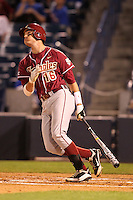 """Florida State Seminoles Jayce Boyd #16 during a game vs. the Florida Gators in the """"Florida Four"""" at George M. Steinbrenner Field in Tampa, Florida;  March 1, 2011.  Florida State defeated Florida 5-3.  Photo By Mike Janes/Four Seam Images"""