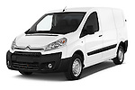 2015 Citroen Jumpy L1H1 Ft10 4 Door Cargo Van angular front stock photos of front three quarter view