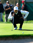 Tiger Woods puts out during the Accenture Match Play Championship in La Costa, California.