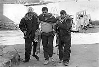 - Israeli soldiers in a refugee camp arrest a Palestinian....- militari israeliani in un campo profughi arrestano un palestinese