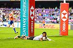 HSBC Hong Kong Rugby Sevens 2018 Match between Fiji and Samoa on 06 April 2018, in Hong Kong. Photo by Marcio Rodrigo Machado / Power Sport Images