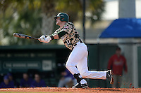 Slippery Rock Carson Kessler (17) during a game against the Kentucky Wesleyan Panthers on March 9, 2015 at Jack Russell Stadium in Clearwater, Florida.  Kentucky Wesleyan defeated Slippery Rock 5-4.  (Mike Janes/Four Seam Images)