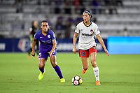 Orlando, FL - Saturday July 07, 2018: Ashley Hatch during the first half of a regular season National Women's Soccer League (NWSL) match between the Orlando Pride and the Washington Spirit at Orlando City Stadium.