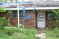 Hurricane Katrina damaged house abandoned Chalmette near New Orleans Louisiana