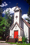 OLD COMMUNITY CHURCH IN QUAINT MOUNTAIN TOWN