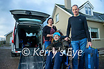 Ronan Foley pictured with his parents Tony and Caroline as they get ready to leave their home in Killorglin to go to Dublin for Ronan's operation on Thursday.