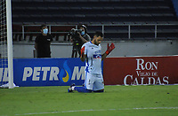 BARRANQUILLA - COLOMBIA, 30-01-2021.Sebastian Viera del Atlético Junior durante partido por la fecha 3 entre Atlético Junior y América de Cali  como parte de la Liga BetPlay DIMAYOR 2021 jugado en el estadio  Metropolitano Roberto Meléndez de la ciudad de Barranquilla. / Sebastian Viera of Atletico Junior  during match for the date 3 between Atletico Junior and America de Cali as a part BetPlay DIMAYOR League I 2020 played at  Metropolitano Roberto Meléndez stadium in Barranquilla city. Photo: VizzorImage / Jesus Rico / Contribuidor