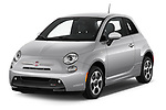 2017 Fiat 500e Battery-Electric 5 Door Hatchback Angular Front stock photos of front three quarter view