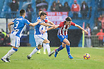 Filipe Luis (r) of Atletico de Madrid fights for the ball with Alberto Martin of Deportivo Leganes during their La Liga match between Atletico de Madrid and Deportivo Leganes at the Vicente Calderón Stadium on 04 February 2017 in Madrid, Spain. Photo by Diego Gonzalez Souto / Power Sport Images
