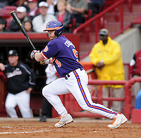 Outfielder Joe Costigan (5) of the Clemson Tigers in a game against the South Carolina Gamecocks on March 3, 2012, at Carolina Stadium in Columbia, South Carolina. Carolina won, 9-6. (Tom Priddy/Four Seam Images)
