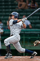Tyler Bortnick #16 of the Charlotte Stone Crabs during a game against the Daytona Beach Cubs at Jackie Robinson Ballpark on July 8, 2011 in Daytona Beach, Florida. (Scott Jontes / Four Seam Images)