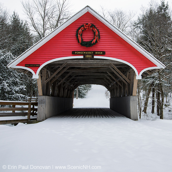 This photo represents December in the 2019 White Mountains New Hampshire calendar. Flume Covered Bridge in Lincoln, New Hampshire. You can purchase a copy of the calendar here: http://bit.ly/2GPQ9q3