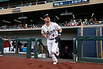 Reno Aces' Stuart Fairchild takes the field in a game against the Tacoma Rainiers, in Reno, Nev., on Friday, May 28, 2021. <br /> Photo by Cathleen Allison