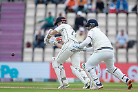 Kane Williamson, New Zealand clips the ball fine during India vs New Zealand, ICC World Test Championship Final Cricket at The Hampshire Bowl on 20th June 2021