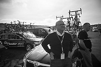 Rapha Condor JLT team manager John Herety (GBR) post-race<br /> <br /> 2013 Tour of Britain<br /> stage 6: Sidmouth to Haytor (Dartmorr): 137km