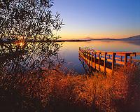 Floating dock on Upper Klamath Lake ,Oregon