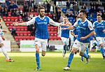 St Johnstone v Hamilton Accies…23.09.17…  McDiarmid Park… SPFL<br />Murray Davidson celebrates his goal<br />Picture by Graeme Hart. <br />Copyright Perthshire Picture Agency<br />Tel: 01738 623350  Mobile: 07990 594431