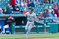 Columbus Clippers second baseman Yu Chang (6) during an International League game against the Indianapolis Indians on April 29, 2019 at Victory Field in Indianapolis, Indiana. Indianapolis defeated Columbus 5-3. (Zachary Lucy/Four Seam Images)