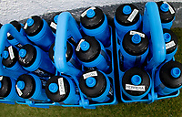 , MEXICO - : U-23 USMNT individual water bottles during a game between  and undefined at  on ,  in , Mexico.