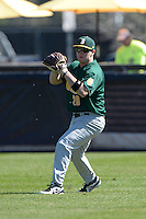 Siena Saints outfielder Carlos Tapia (29) during pre-game warmups before a game against the Central Florida Knights at Jay Bergman Field on February 16, 2014 in Orlando, Florida.  UCF defeated Siena 9-6.  (Mike Janes/Four Seam Images)
