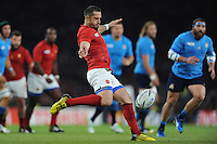 Scott Spedding of France sends up a clearance kick during Match 5 of the Rugby World Cup 2015 between France and Italy - 19/09/2015 - Twickenham Stadium, London <br /> Mandatory Credit: Rob Munro/Stewart Communications